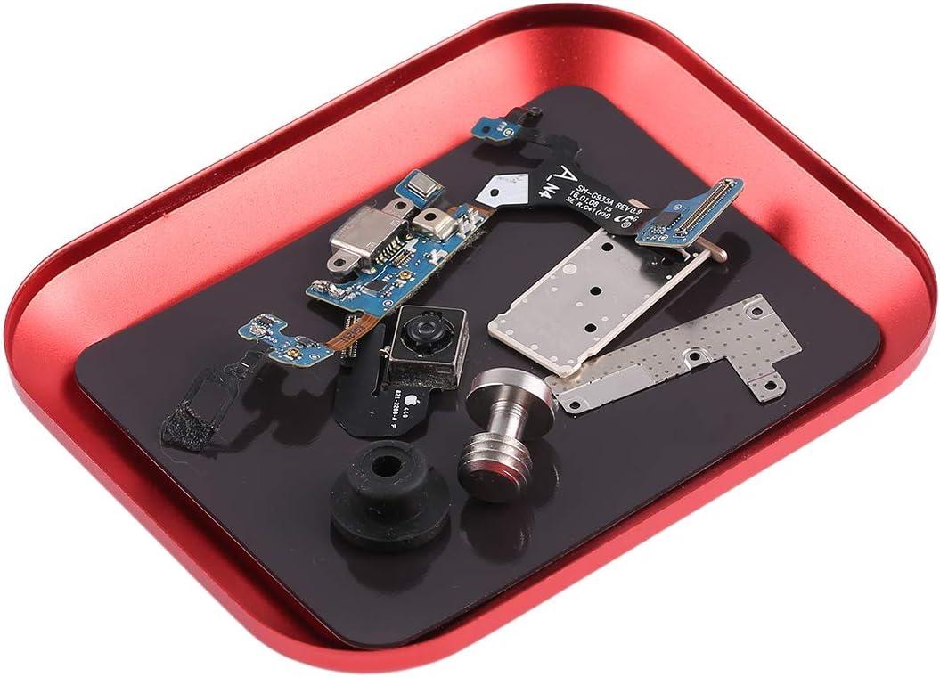 Color : Red ZJcommpanyHTG Htg Aluminium Alloy Screw Tray Phone Repair Tool htg