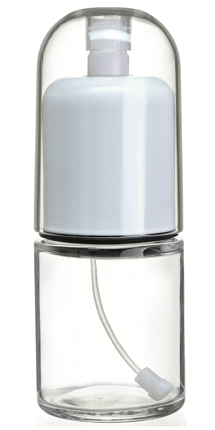 Premium Olive Oil Mister and Cooking Sprayer with Clog-Free Filter and Glass Bottle by CHEFVANTAGE - White