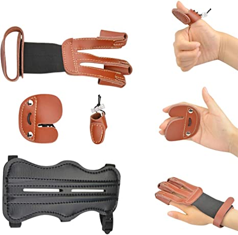 1PC Gloves Archery Finger Guard 3 Fingers Sports Hand Guard Supplies Shooting
