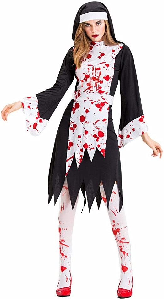 CAGYMJ Vintage Halloween Dress Party Ropa De Mujer,Zombi Medieval ...