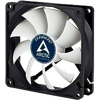 ARCTIC F9 PWM - Ventilador de PC (Ventilador, Carcasa del Ordenador, Negro, Color Blanco, De plástico, 110g, 150g)