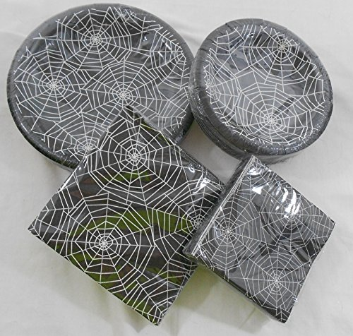 Halloween Spiderweb Paper Plates and Napkins