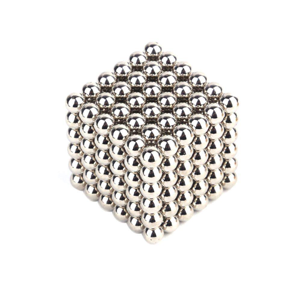 Blue JUFANGFIN 5MM 216 Pieces Magnetic Ball Moldability Magnetic Toy Stereo Thinking Training Tool Office Toy Decompression Tool