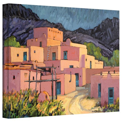 ArtWall Taos Pueblo Gallery Wrapped Canvas Art by Rick Kersten, 14 by 18-Inch