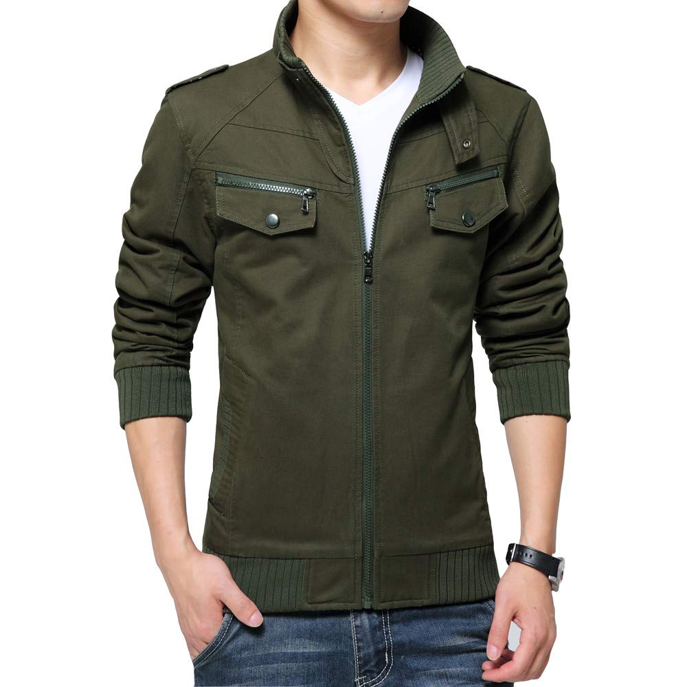 Men's Winter Coat Sale Casual Military Tactical Workwear Breathable Washable Jacket Army Green