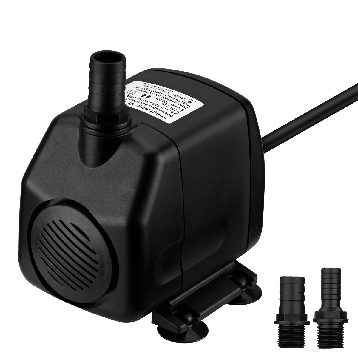VicTsing 920GPH Fountain Water Pump 60W Submersible Pump For Aquarium, Fish Tank, Pond, Hydroponics with 5.9ft (1.8M) Power Cord