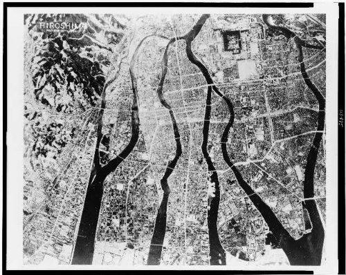 HistoricalFindings Photo: Pre-strike aerial view, Hiroshima,Japan,1945,World War