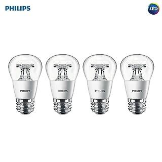 Philips LED Dimmable A15 Soft White Light Bulb with Warm Glow Effect 450-Lumen, 2700-2200-Kelvin, 5.5-Watt (40-Watt Equivalent), E26 Base, Clear, 4-Pack
