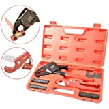 """IWISS Combo Angle Head PEX Pipe Crimping Tool Kits for 1/2"""" & 3/4"""" Pex Crimp Rings with Go/No-Go Gauge with PEX Pipe Cutter suits Apollo Sharkbite PEX Copper Rings All US F1807 Standards"""