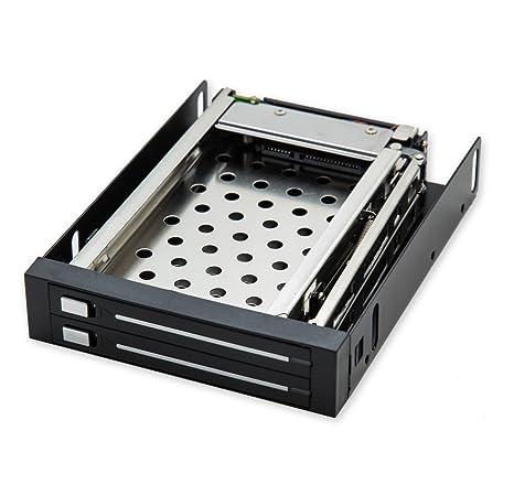 Amazon.com: IO Crest – Rack móvil para dos 2.5 pulgadas SATA ...