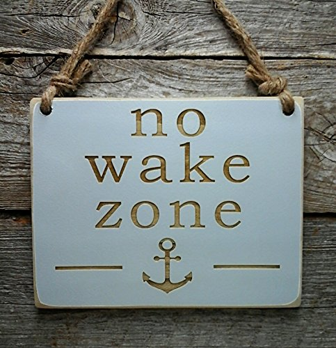 No Wake Zone - Baby Shower Gift - Nursery Sign - Baby Sleepi