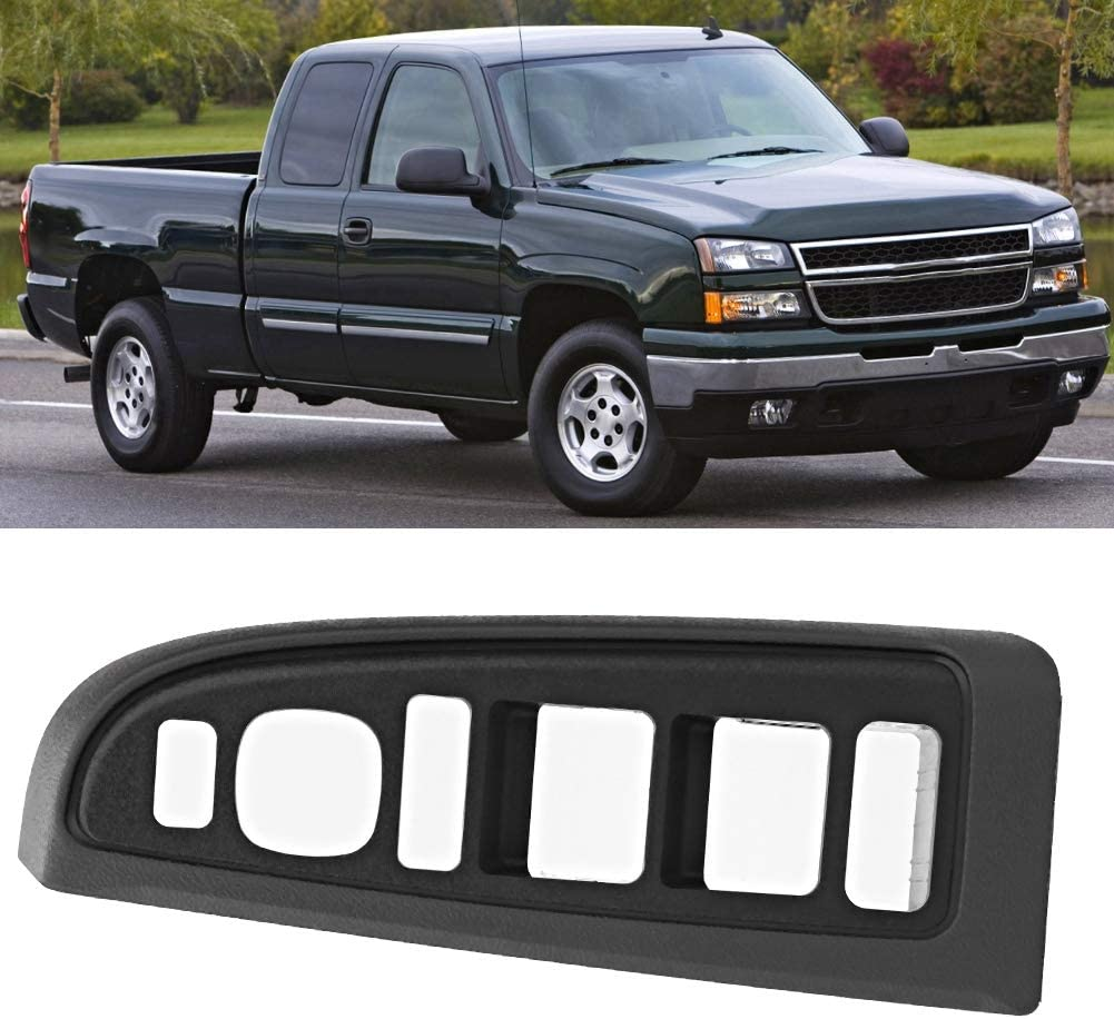 Window Switch Bezel Front Left Drivers Side Replacement fits for 2004-2006 Chevy Silverado 1500 2500 3500 2004-2006 GMC Sierra 1500 2500 3500 Replace 89045128