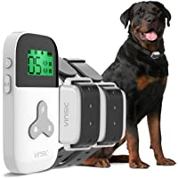 VINSIC Dog Shock Collars with Remote for 2 Dogs,100% Waterproof Dog Training Collars with 300yd Range Remote Control, for Small Big Dog bark Collar with LCD Display