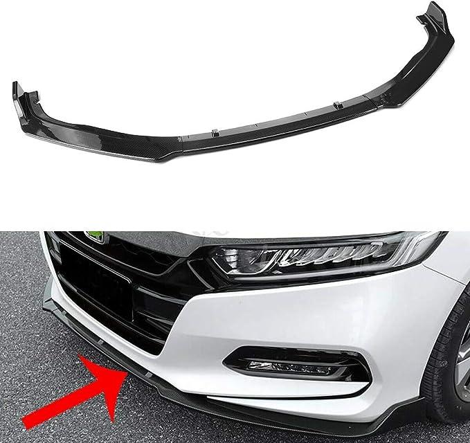 GaofeiLTF Front Bumper Lip Fits for 2018 Honda Accord 3pcs ABS Painted Front Bumper Chin Splitter Blue+Black
