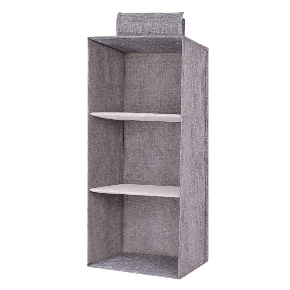 Hanging Wardrobe Storage Organiser Hanging Storage With 3//4//5 Shelves  Cotton Drawer Organizer Hanging Clothes ...