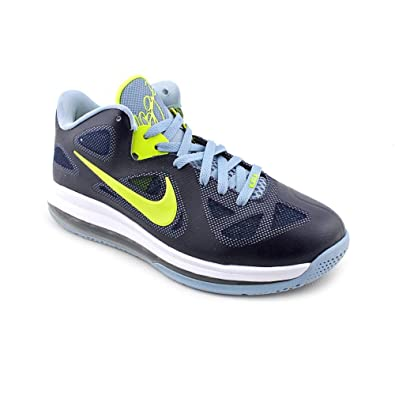 the best attitude 60df6 7e5ce Nike Lebron 9 Low Mens Basketball Shoes Obsidian Cyber-White-Blue Grey  510811