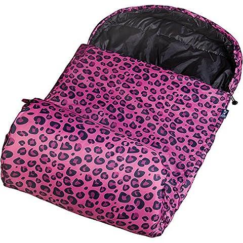 Wildkin Pink Leopard 30-Degree Kids' Sleeping Bag Includes Matching Stuff Sack (Baby Mammoth Mummy)