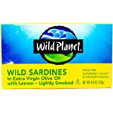 Wild Planet Wild Sardines in Extra Virgin Olive Oil with Lemon, 4.375-Ounce Tins (Pack of 6)