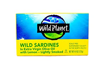 Wild Planet Extra Virgin Olive Oil 4.4-oz Canned Sardines