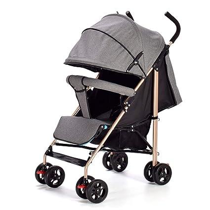 WFCVS Sillas de paseo Carrito de bebé Plegable simple ...