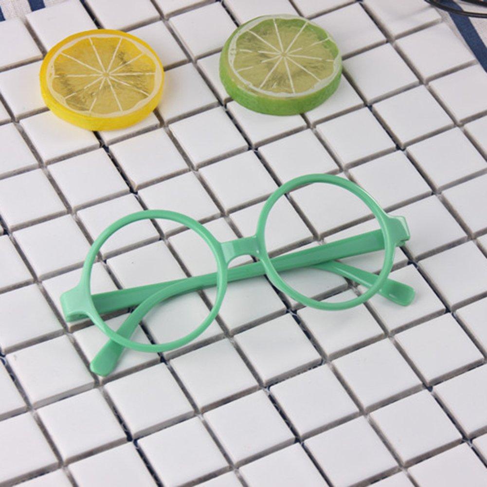 No Lenti Geek//Nerd Lettura Occhiali in Plastica Montatura con Occhiali Caso per Ragazze Ragazzi juqilu Bambini Retr/ò Occhiali