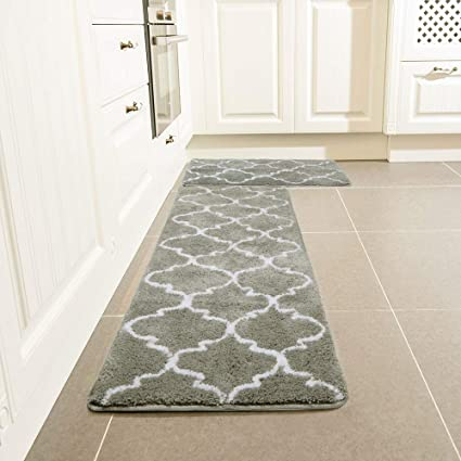 Amazon Com Kitchen Rug Set Leevan Moroccan Kitchen Comfort Mat
