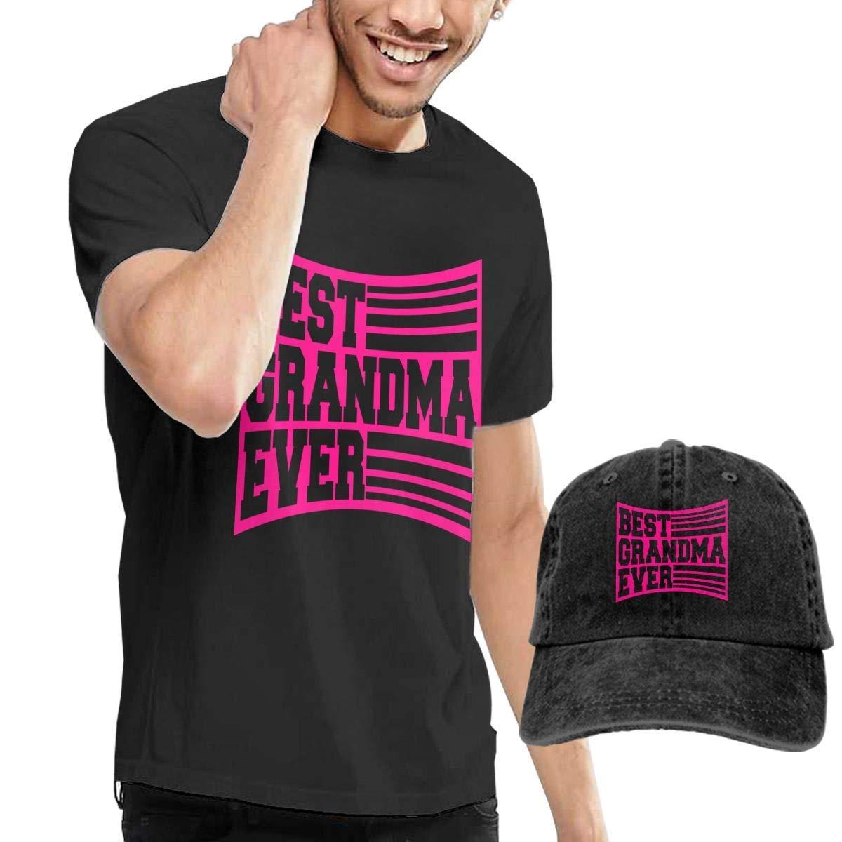 QQWBB Best Grandma Ever Tees Short Sleeve Denim Hat Male