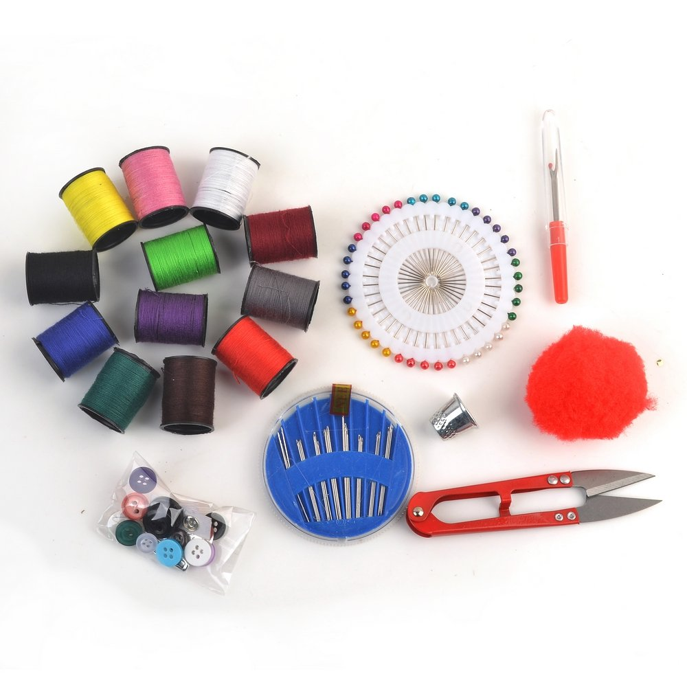 Designer Sewing Set eZthings Flower Design Sewing Supplies Kit for Arts and Crafts