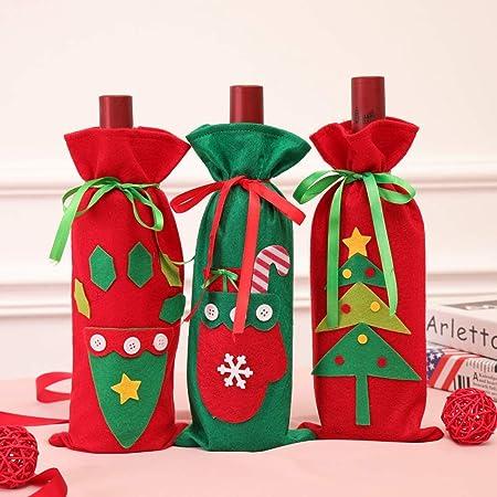 3 Piezas Decoraciones Navideñas Nuevo Conjunto De Botella De ...