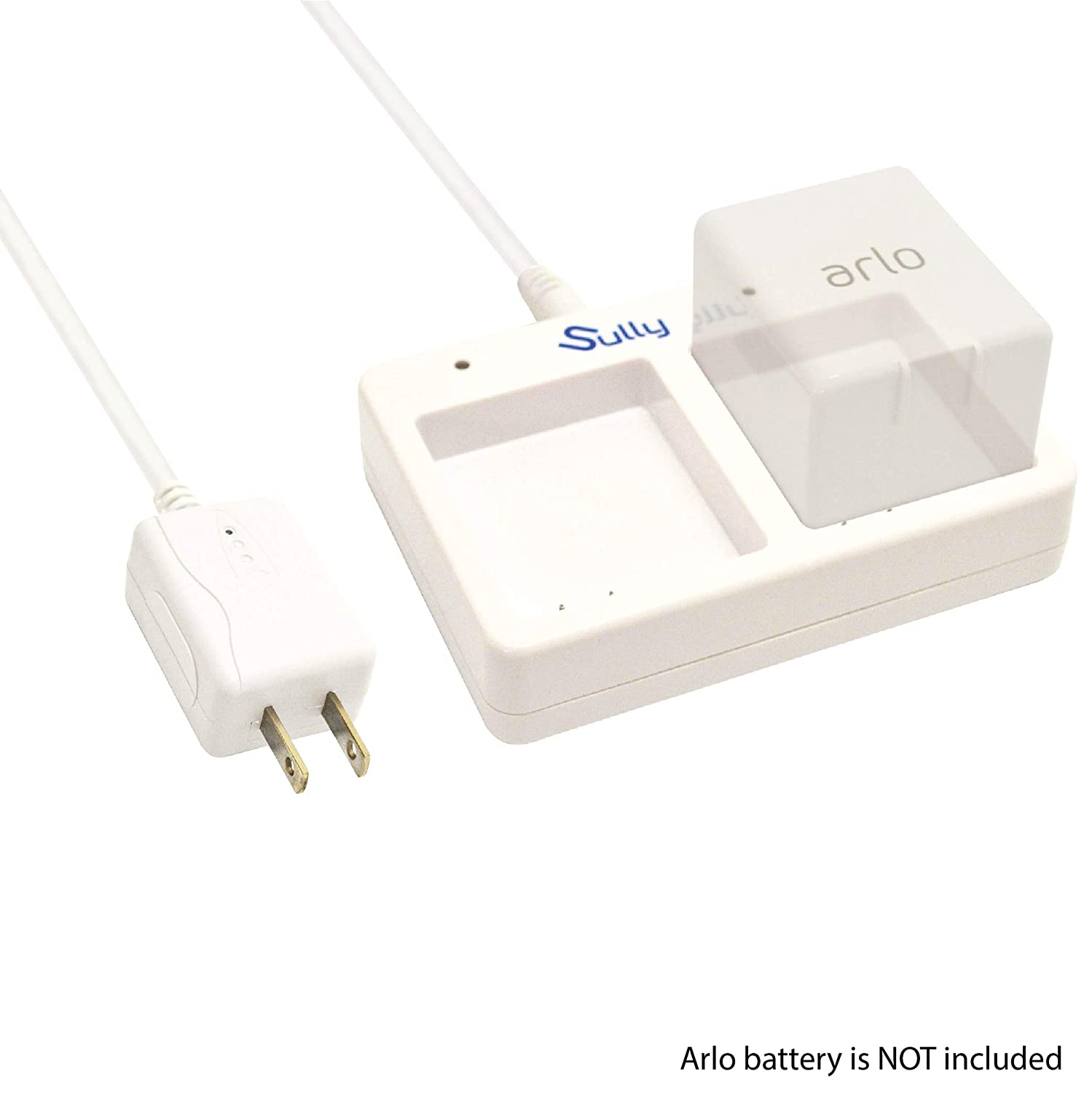 Charging Station for Arlo Security Light /& Arlo Pro Smart Home Cameras /& Arlo Pro 2 /& Arlo Go Batteries VMA4410 ALS1101 ALS1101 by Sully 2 Ports White Battery Charger for Arlo Netgear Batteries