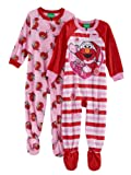 Elmo Fleece Footed Pajama Toddler Girls