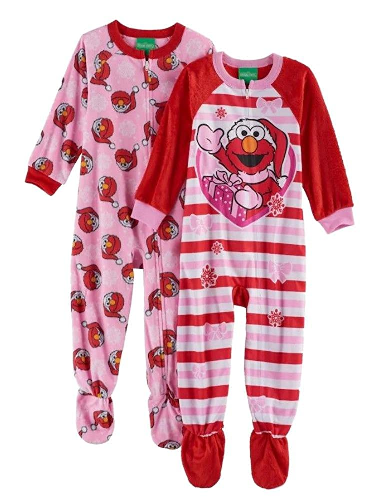 Elmo Fleece Footed Pajama Toddler Girls Sesame Street SS234TBFKL