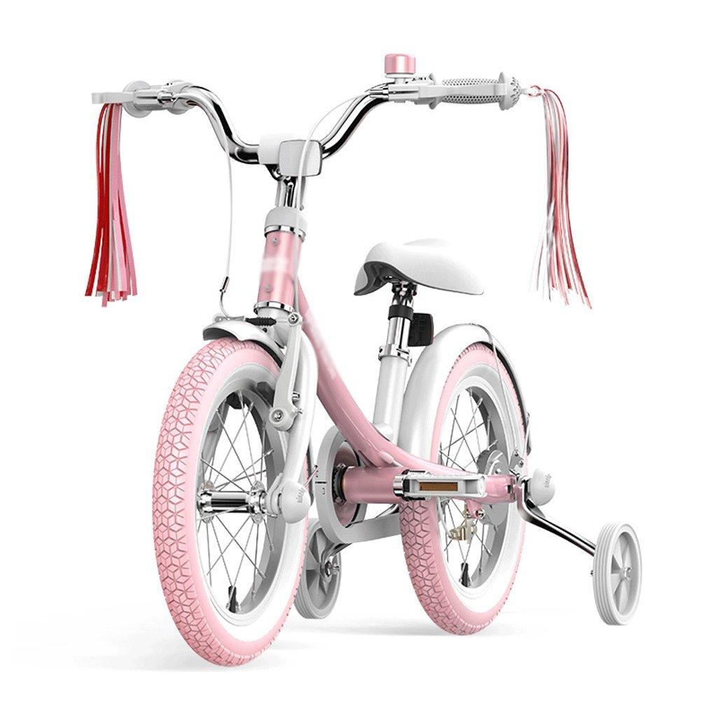 自転車 子供用自転車3-6歳古い14インチレディース自転車ピンク   B07F6C6SBR