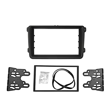 Autoleads VW Tiguan 2007 5N on Car Stereo Double Din Fascia Panel