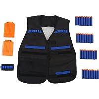 Chaleco de Bala de Espuma, 1pcs Toy Gun EVA Cartridge Holder Jacket Soft Bullet Clip Vest Kit para la Serie Elite