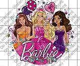 Barbie Glitter Birthday Licensed Edible Cake Topper #36846