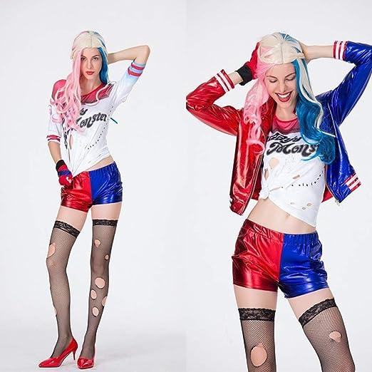 Lim Harley Quinn Ropa para niñas Suicide Squad Abrigo + Pantalones ...