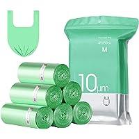 Bolsas Basura con Asas,15-20L,Extra Resistentes Bolsa de Basura Pequeñas,Bolsas Liners para Residuos de Cocina(4x25…