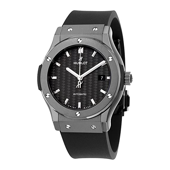 Hublot clásico fusión Automático Negro carbono fibra Dial Negro Goma Mens Reloj 542. CM. 1771. RX: Amazon.es: Relojes