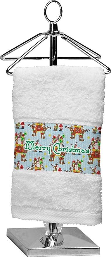 RNK Shops Papá Noel en trineo personalizada toalla de punta de los dedos
