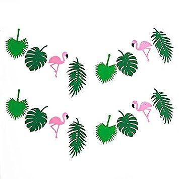 KeFan Summer Tropical guirnalda para fiesta Hawaiian Luau fiesta de cumpleaños banner decorativo para fiesta decoración del Festival