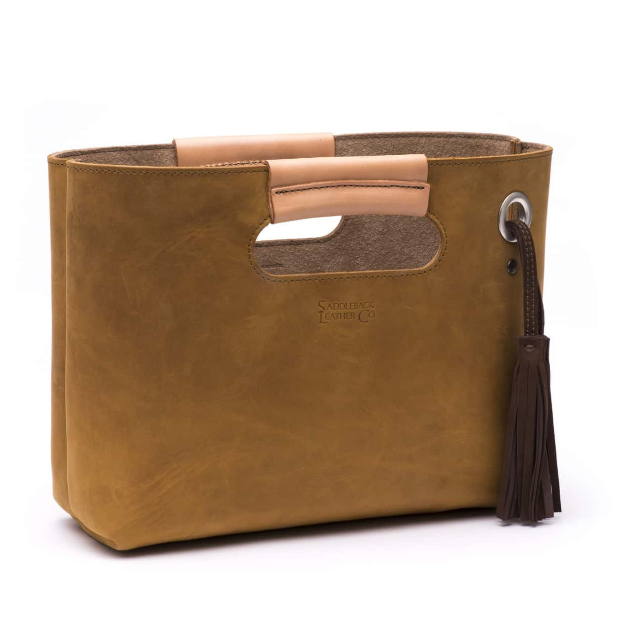 Saddleback Leather Clutch Tote - Beautiful Full Grain Leather Small Tote Bag with 100 Year Warranty