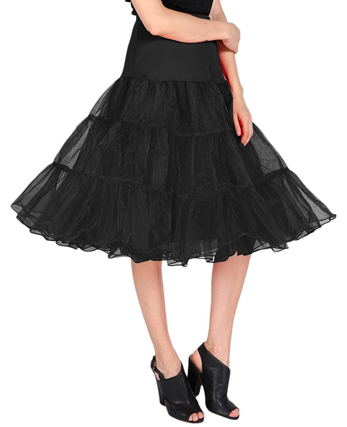 1950s Costumes- Poodle Skirts, Grease, Monroe, Pin Up, I Love Lucy Dressystar 50s 26 Length Tutu $15.00 AT vintagedancer.com