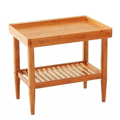 WENYAO Mesa de café de la Sala de Estar de bambú, Sala de Estar ...