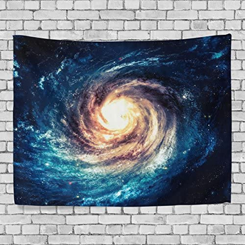JSTEL Home Decor Space Starry Sky Deep Outer Space Nebula and Galaxy in The Universe Pattern Tapestry Wall Hanging XL for Bedroom Living Room Dorm Wall Art 90 x 60 inches