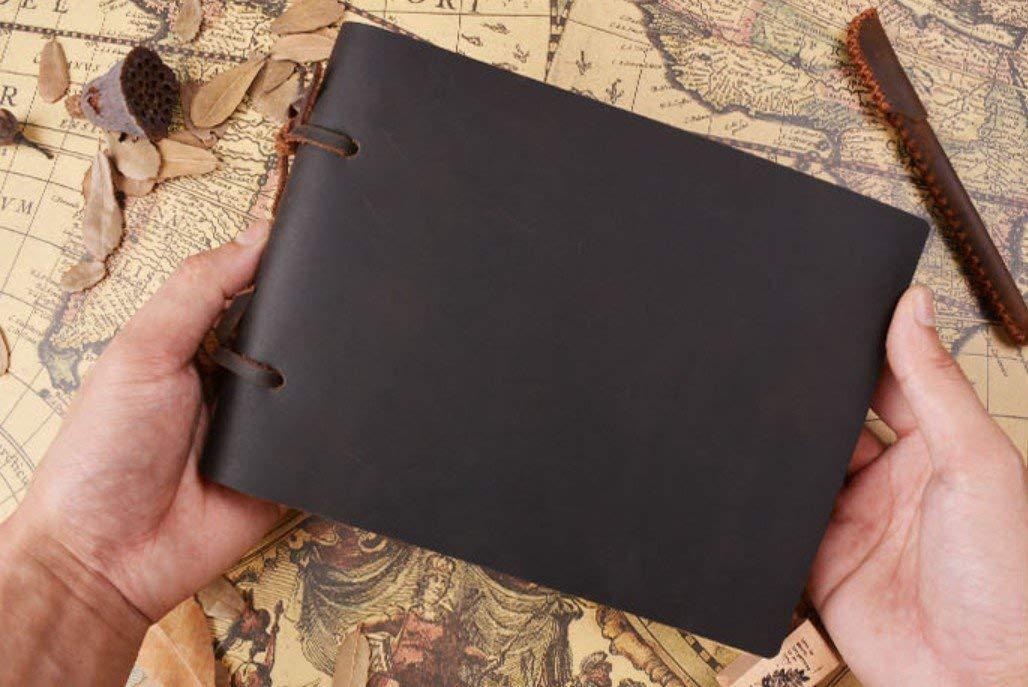 OIBHFO Home Útil 400 páginas Color Puro Puro Color Estilo Vintage Cuaderno de Cuero de Vaca 6f9fe1