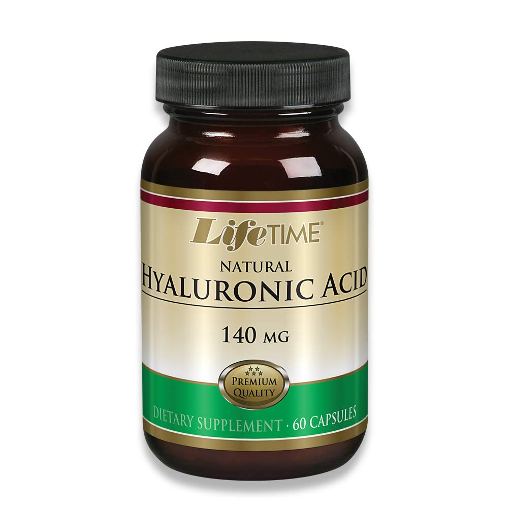 Lifetime Natural Hyaluronic Acid,140mg, 60 Capsules