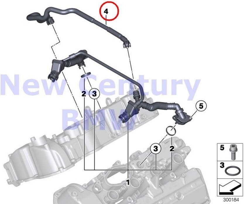 MOTOKU Left and Right Crank Crankcase Vent Hoses for BMW 550i 650i 750i 750Li B7 X5 X6 N63 11157646086 11157646087