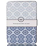 Kindle Paperwhite case, [ Auto Sleep/Wake ] PU Leather Wallet Flip Case For Amazon Kindle Paperwhite(fits All Versions: 2013/ 2014 /2015 All new Versions) (Classic Crown)