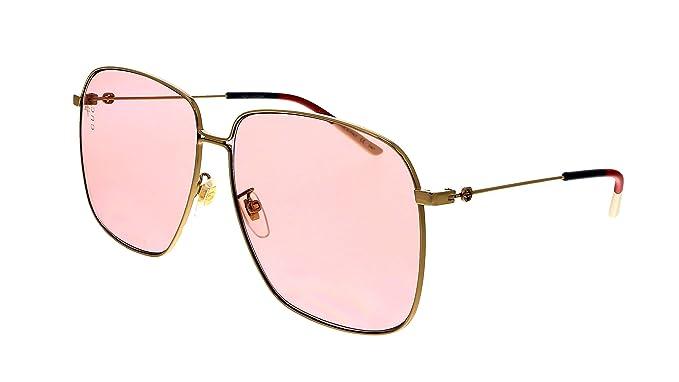 Amazon.com: Gucci GG0394S - Gafas de sol cuadradas para ...